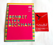 BEND IT LIKE BECKHAM JAPAN MOVIE PROGRAM BOOK 2003 w/Ticket stab KEIRA KNIGHTLEY