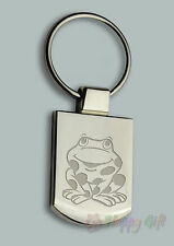 Engraved SMILING FROG Design keyring BOXED Personalised Free Keyring