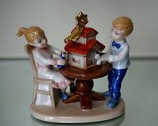 Clara & Peter decorating the presepe, Royal Copenhagen figurine