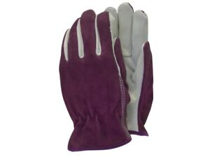 Town & Country TGL114M Luxury Soft Leather Ladies Gardening Gloves - Plum
