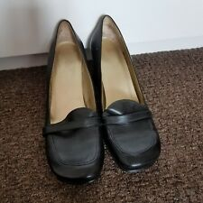 Nine West black leather shoes size 10M(41)