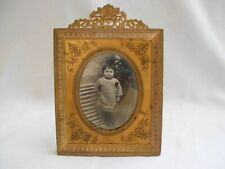 ANTIQUE FRENCH GILT BRONZE BRASS PHOTO FRAME,LOUIS XV STYLE LATE 19th CENTURY