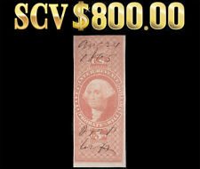 nystamp: US Stamp 1862 Scott R92a CV $800.00 [$5,Red,Probate of Will] Very RARE!