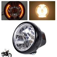 7 Zoll Motorrad Scheinwerfer 26 LED Amber 35W Licht Blinker für Harley Honda