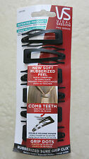 VIDAL SASSOON Pro Series Rubberized Sure Grip Clix hair clips ( 6 ct. ) BLACK