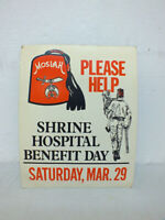 Vintage Moslah Shriner Shrine Hospital Poster Ft Worth Texas Temple