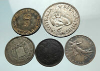 GROUP LOT of 5 Old SILVER Europe or Other WORLD Coins for your COLLECTION i75644
