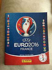 Panini EM 2016 Frankreich Komplett Album + 680 Sticker ungeklebt, Euro, Fußball,
