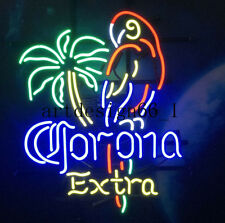 "New Corona Extra Parrot Palm Tree Logo Beer Light Lamp Neon Sign 17"""