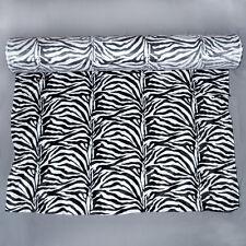 Meterware Fellimitat Kunstfell Webpelz Zebra Tierfell