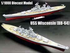 WWII battleship USS Wisconsin BB-64 diecast 1/1000 model ship military Navy