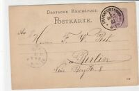 germany 1883 stamps card ref 20984