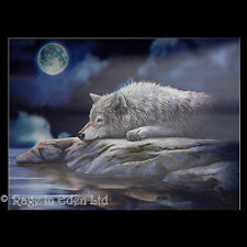 *QUIET REFLECTION* Goth Fantasy Wolf Art 3D Print By Lisa Parker (39x29cm)