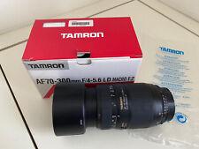 TAMRON AF70-300mm F/4-5.6 LD MACRO 1:2 NIKON FIT LENS. EXCELLENT CONDITION.