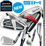 TaylorMade SIM MAX OS Golf Irons Men's KBS MAX Steel Shafts - NEW! 2020