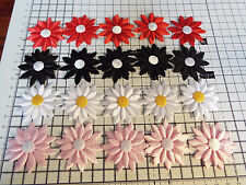 5 pcs Big Applique 2ply, Satin Daisy Flower- hairband,wedding,patch, approx 5cm