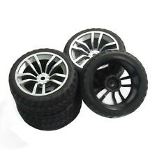 4pcs 12mm Hub Wheel Rims & Rubber Tires for RC 1/10 on-road Touring Racing Car D