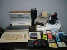 lotto commodore 64 funzionante ( floppy disk datacassette giochi joystick vintag