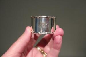Superb Vintage Sterling Silver Napkin Ring - Hallmarked - Collectable - 27g  Vgc