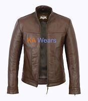 Mens Real Leather Biker Jacket Vintage Fashion Motorbike Slim Fit Motorcycle Zip
