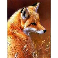 5D Fox Full Drill Diamond Painting Cross Stitch Kits Embroidery Art Mural Decor