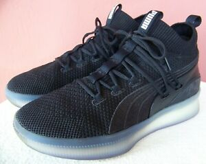 PUMA CLYDE COURT Black Lace-Up Basketball Sneakers 19171506 US Mens 8, EUR 40.5