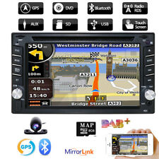 Double DIN Car DVD GPS Player Stereo Head Unit Sat Nav TouchScreen Radio DAB+SWC