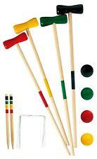 Giochi All'Aperto Legno Croquet Set 20 Pezzi