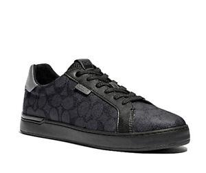 COACH Men's Low Line Signature Low-Top Sneakers Charcoal/grey. Sz.10.5. New