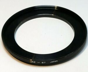 52mm to 67mm Step-up ring Metal adapter double threaded for lens filter