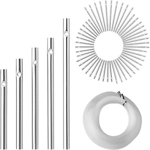 90 PCS Wind Chime Tubes Wind Chime kit DIY Wind Chime For Outdoor Hanging NEW