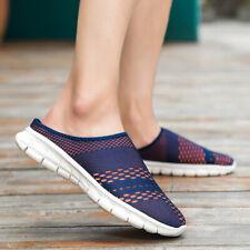 Mens Slingbacks Loafers Casual Slippers Mesh Breathable Soft Slip On Slides Shoe