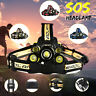 90000LM T6 5xLED Rechargeable Headlight Torch Headlamp 18650 Head Light Lamp