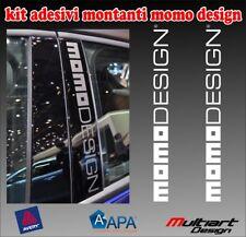 ADESIVI MOMO DESIGN SPORTELO AUTO LANCIA YPSILON 2003/2010  2X STICKER TUNING
