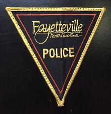 Vintage Fayetteville North Carolina Police Shoulder Patch Flash USA