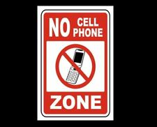 No Cell Phone Sign PHOTO Warning No Cell Phone Zone Use Photo Turn Off Sign
