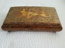 Vintage Sorrento Italy Music Box/ Jewelry Box plays Love Story Beautiful Wood