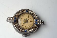 LADIES ANTIQUE AIRCRAFT MANUAL WIND SWISS MADE ORNATE STONE SET WORKING WATCH