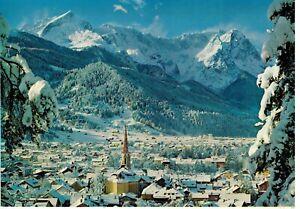 Garmisch Partenkirchen Gegen Zugspitzgruppe Extra Large VTG Colorized Postcard