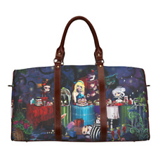 Duffle Overnight Bag Alice in Wonderland Waterproof Travel Bag Trip Organiser
