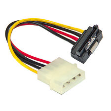 SATA Serial ATA to Molex 5.25 Power Adaptor Cable Lead - Right Angled with Latch