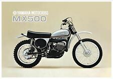 YAMAHA Poster SC500 based MX500 500 VMX 1973 Superb Suitable to Frame