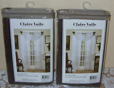 """CLAIRE VOILE TAILORED SHEER  PANELS ONE PAIR 58"""" X 84"""""""