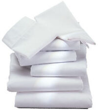 3 NEW 66X104 BRIGHT WHITE TWIN SIZE HOTEL FLAT SHEET 1888 MILLS HOTEL GRADE T180