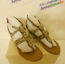 COACH VICKY WEDGE PYTHON PRINT SANDALS SHOES A8162 Size 9 M BRAND NEW!