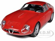 1963 ALFA ROMEO GIULIA TZ RED 1/18 DIECAST MODEL CAR AUTOART 70196