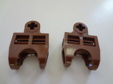 LEGO Brown Technic, Axle Connector 2 x 3 with Ball Socket, Lot of 2