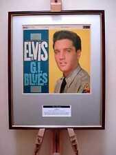 ELVIS PRESLEY GI BLUES ORIGINAL FRAMED ALBUM COVER ARTWORK