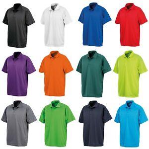 Herren Funktions Polo Shirt atmungsaktiv Poloshirt Funktionsshirt Sport XXS-5XL