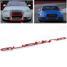 Scritta Emblema griglia Badge Logo Audi QUATTRO S4 A4 A6 A8 S3 S6 Q5 Q7 Rosso